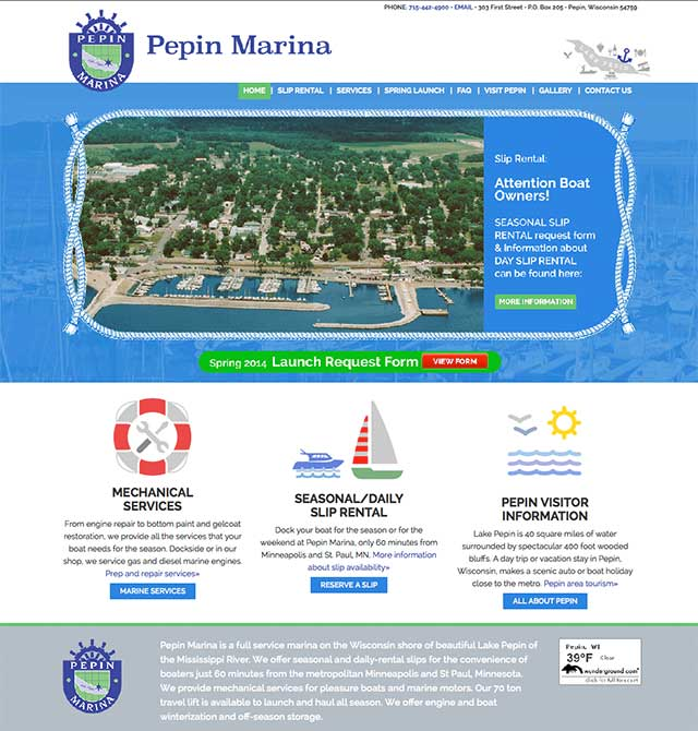 Pepin Marina – Sailboating Lake Pepin Large Preview